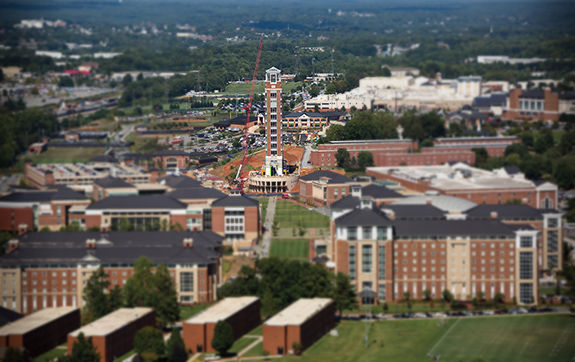 The 275-foot-tall Freedom Tower is part of a $1 billion campus construction effort at Liberty University. Some students have referred to it as the Tower of Babel.