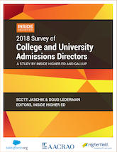2018 Survey of College and University Admissions Directors