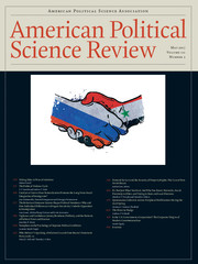 Cover of American Political Science Review.