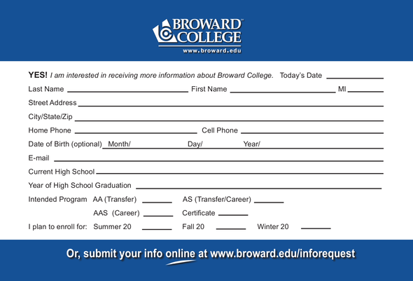 broward college application Broward college 2012-2013 wwwbrowardedu bachelor of applied science programs information technology program code t 300 the bachelor of applied science (bas) is.