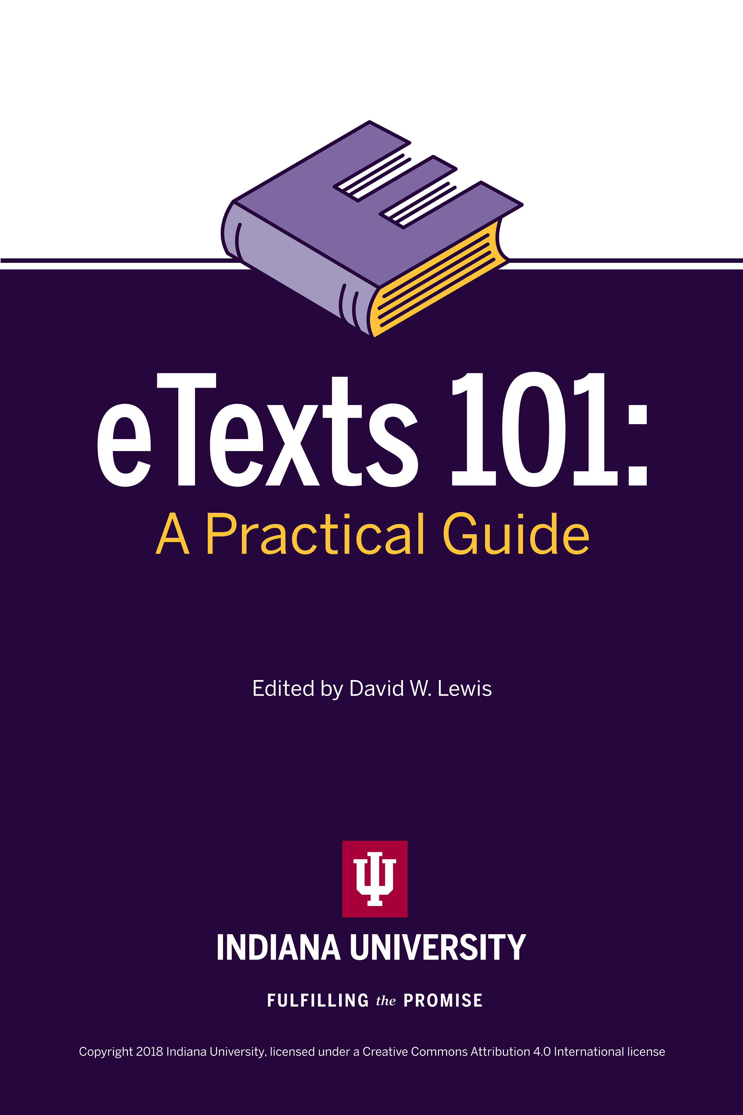 "Cover of ""ETexts 101: A Practice Guide,"" edited by David W. Lewis"