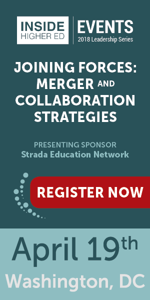 "Merger and Collaboration Strategies."" Presenting sponsor Strada Education Network. April 19, Washington, DC. Register now."
