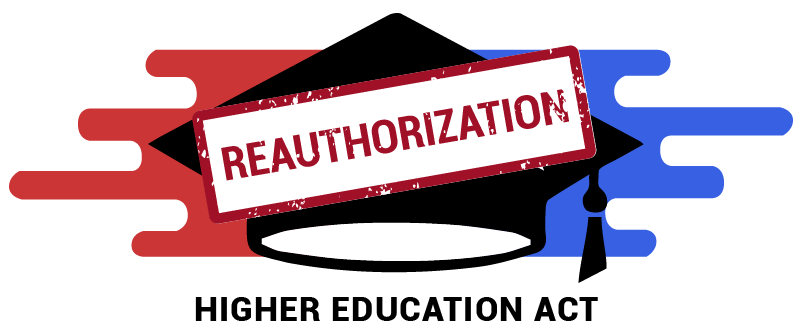 As federal aid policy heats up student groups see blueprint in higher education act reauthorization logo featuring blue and red elements with a mortarboard in the malvernweather Gallery