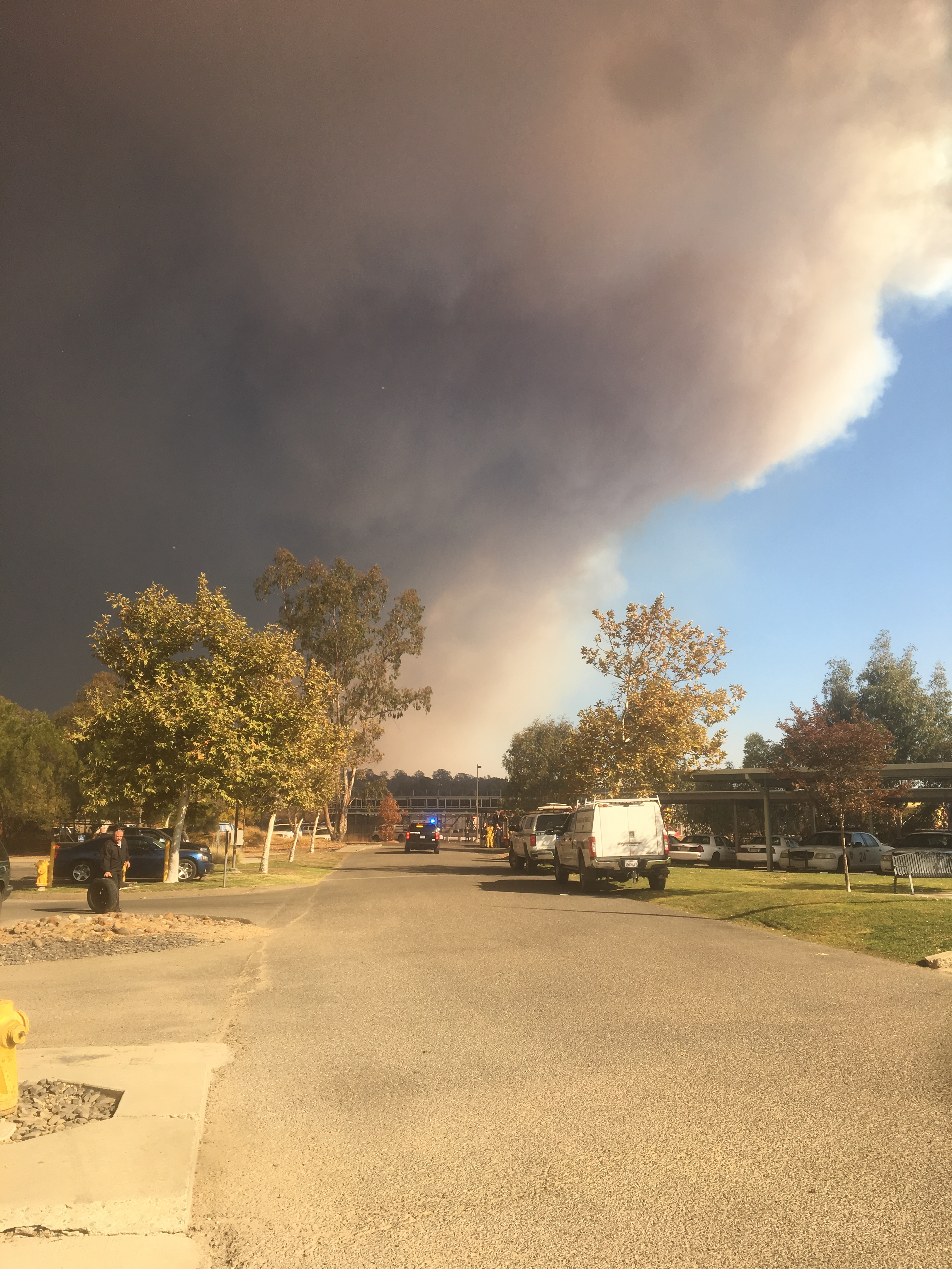 First responders used Butte College as a staging area to fight the Camp Fire.