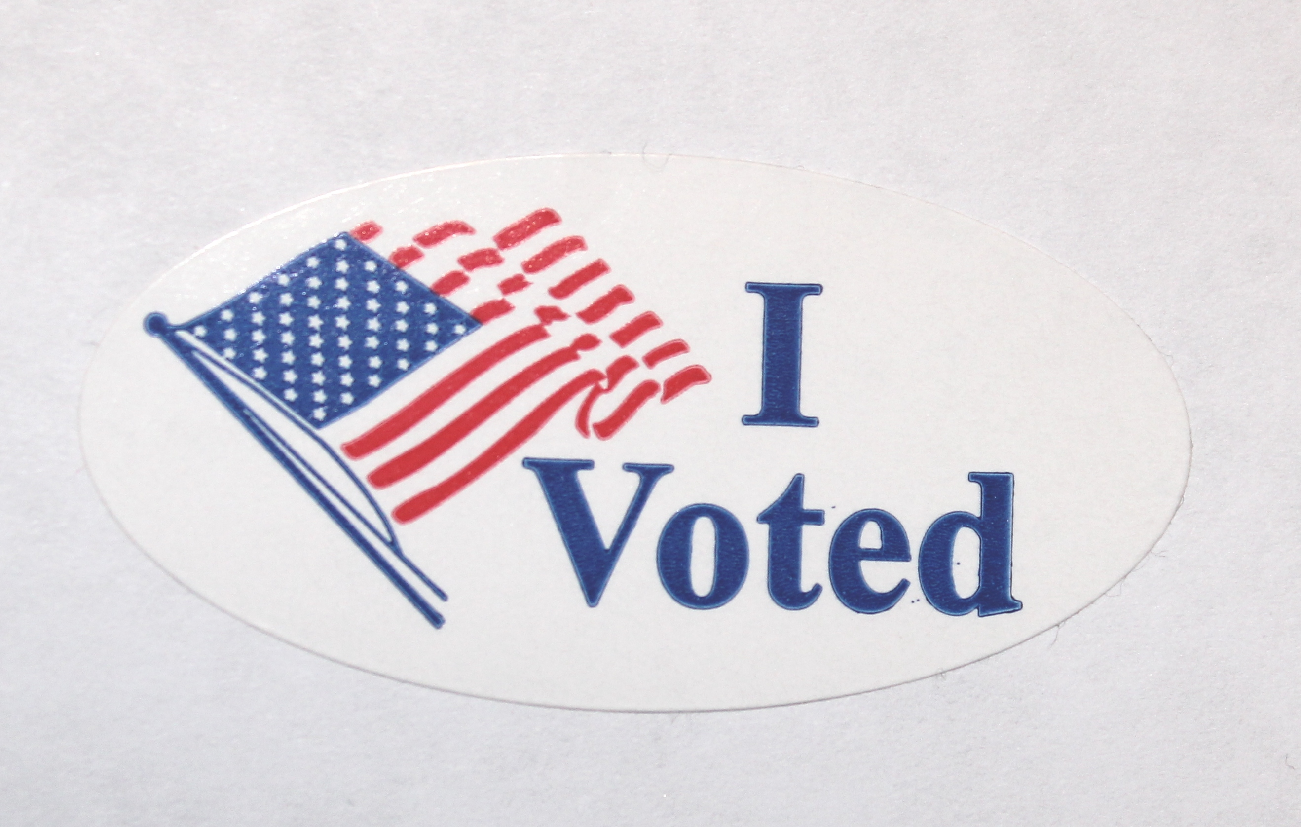 This is an image of Zany I Voted Stickers Printable