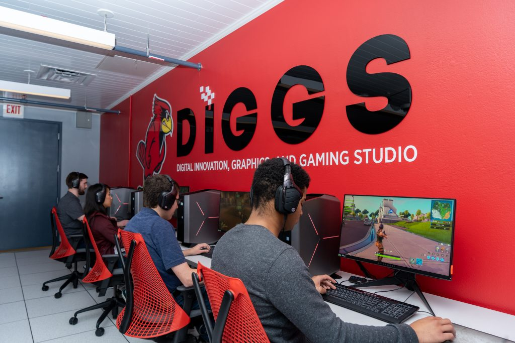 A picture of Illinois State University's esports space.