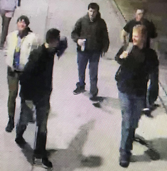 This image from the Southern Methodist University police show suspects who may have posted white nationalist fliers on campus.