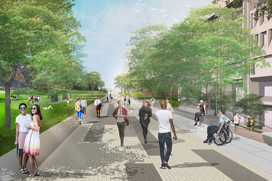 Syracuse university promenade plan exposes tension between for Plan and print syracuse