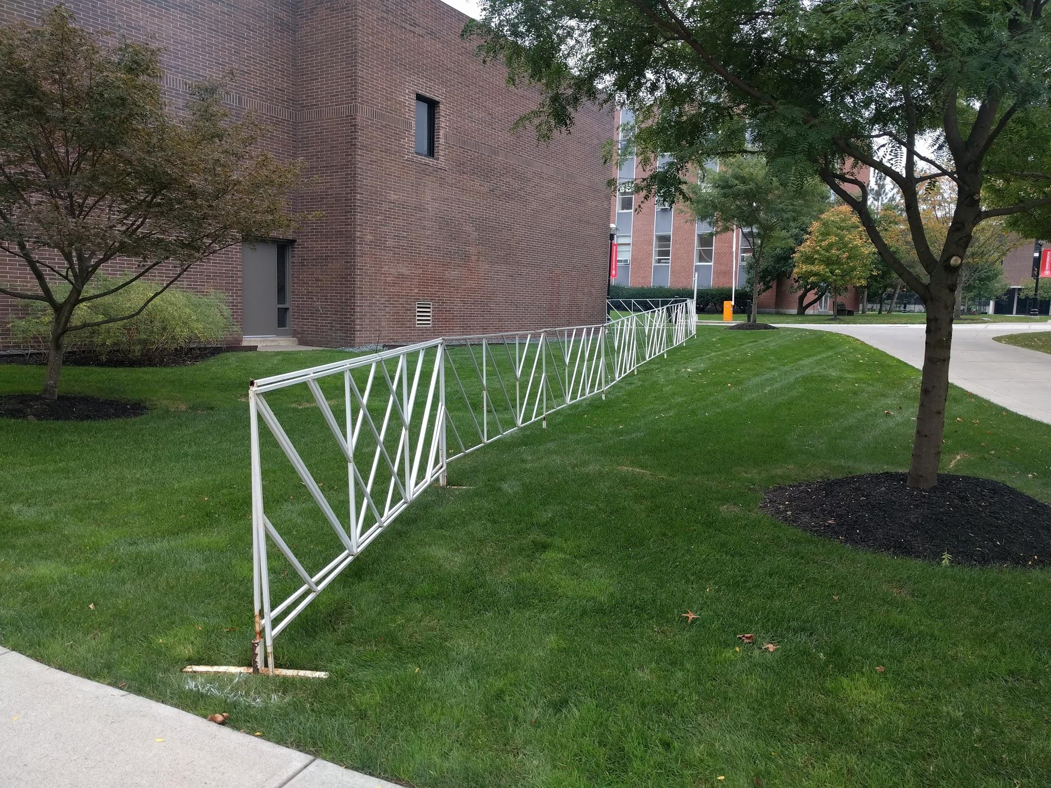 Fencing on the RPI campus.