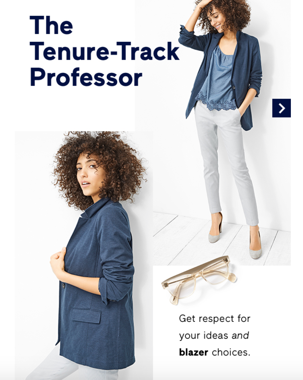 Get Respect For Your Ideas And Blazer Choices Reads The Accompanying Text Which Shows A Set Of Groovy Plastic Eyeglass Frames Professor Herself