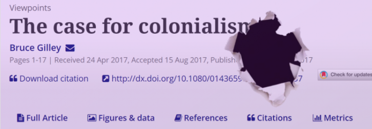 Controversy Over A Paper In Favor Of Colonialism Sparks