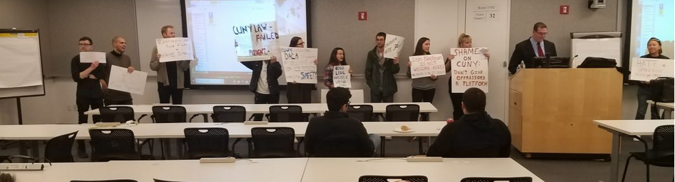 Guest lecture on free speech at CUNY law school heckled