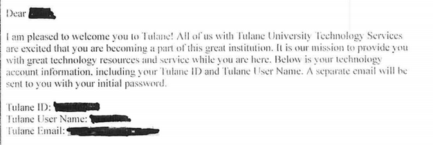 About 130 Tulane applicants receive message suggesting they were