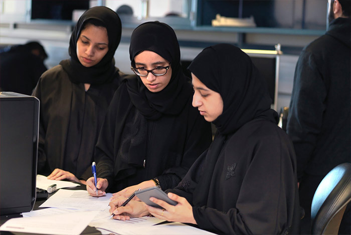 Why is Qatar's percentage of female engineering students double the