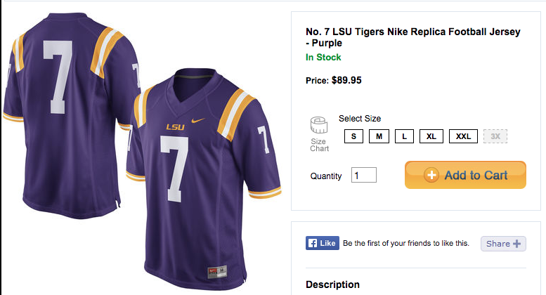 new arrivals 387ec 729bc Louisiana State University player to auction jersey, despite ...