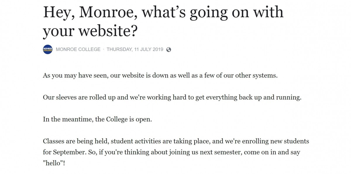 Hackers demand $2 million from Monroe College in ransomware attack