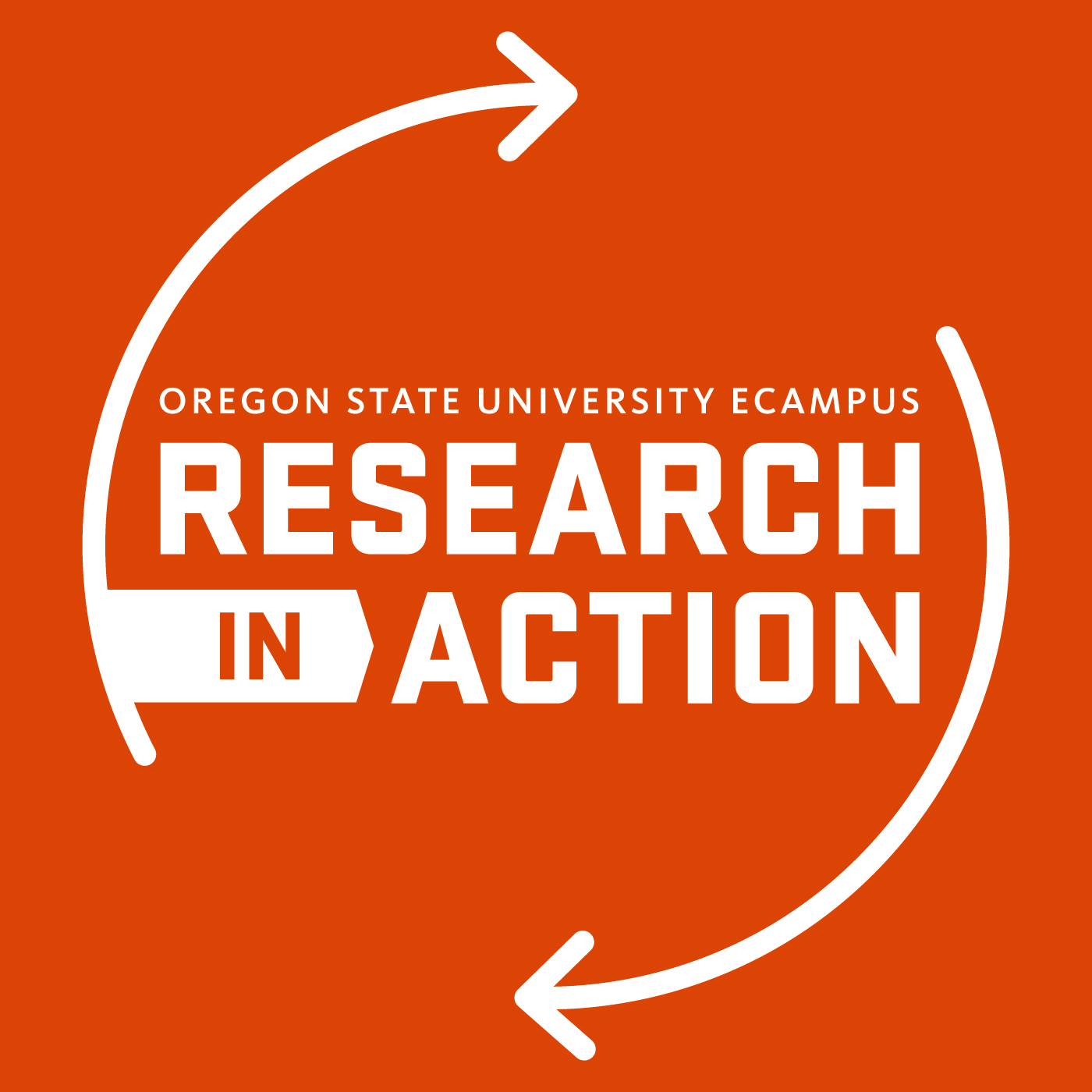 Logo: Oregon State University Ecampus Research in Action