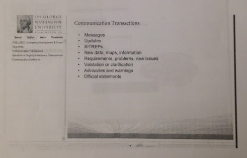 An example of the lecture slides provided to the online students.