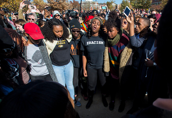 In 2015, students at the university of Missouri gathered to protest institutional racism.