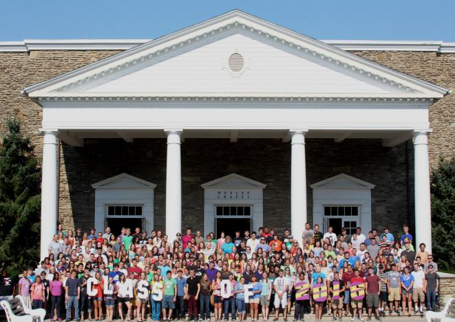 The class of 2016 at Houghton College. Privates across the country with small endowments must cope with changing demographics.
