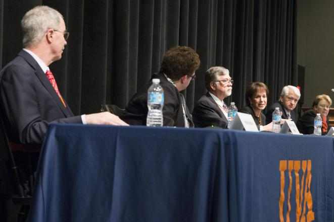 College presidents speak at the University of Virginia's dialogue on sexual misconduct.