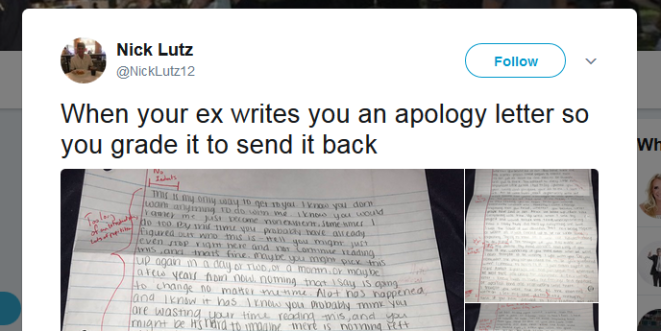 Student suspended after tweeting about exgirlfriend