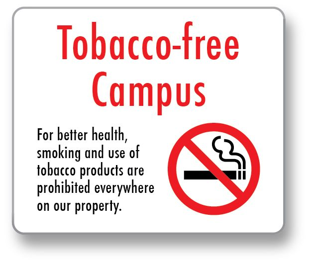 Smoke and Tobacco Free Campus Signs