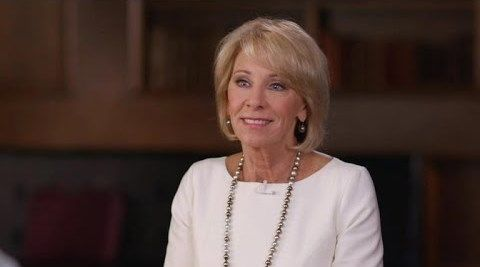Education department devos says false reports of sexual assault are
