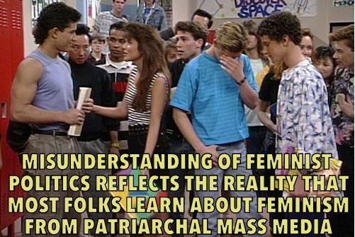 Web Site Mixes Quotes Of Star Feminist Theorist With 1990s Sitcom