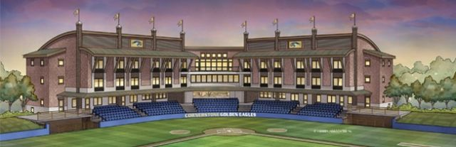 The University Built A 48 Room Residence Hall As Second And Third Floors Of Facility Ringing Its New Baseball Stadium