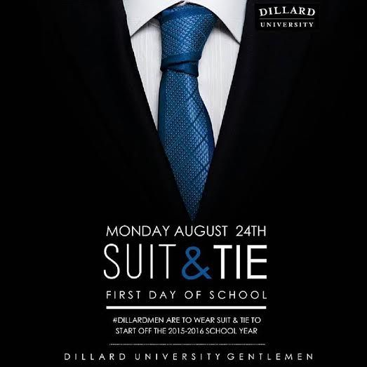 Male Students At Dillard U To Wear Suits On First Day Of Class