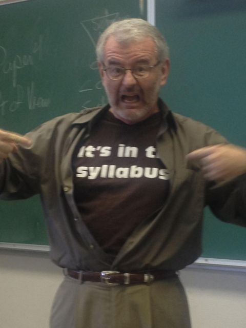 The t-shirt many professors would enjoy wearing