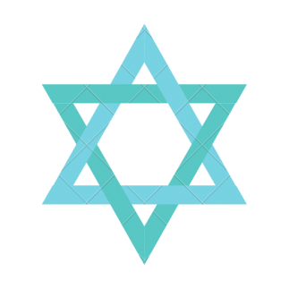 Image of a teal Star of David