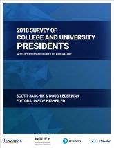 Cover of Inside Higher Ed's 2018 Survey of College and University Presidents