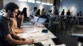 Cooper Union students in drawing class