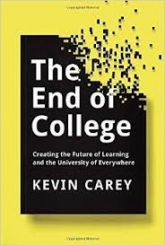 Kevin Carey talks about his new book, 'The End of College'