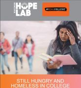 "Cover of HOPE Lab report, ""Still Hungry and Homeless in College."""
