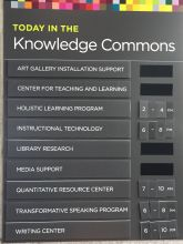 Image of Hampshire College knowledge commons daily schedule