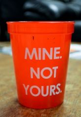 Princeton's Student Health Advisory Board ordered these cups for students to help contain the meningitis outbreak.