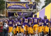 The Minnesota State University at Mankato football team takes the field.