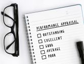 Stock image of a performance appraisal sheet.