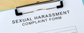 Stock image of sexual harassment complaint form
