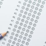 Stock image of a standardized test form.